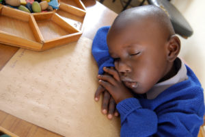KELVIN KIPTANUI WHO IS BLIND AT KILIMANI JUNIOUR SCHOOL